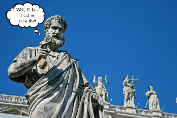 St. Peter statue at Vatican || public domain photo by DomyD