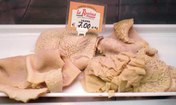 Tripe in an Italian market || public domain photo by Lucarelli