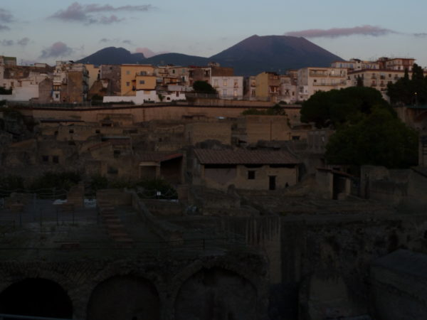 View of Herculaneum with Ercolano and Mt. Vesuvius in the background || photo by Jessica Spiegel, all rights reserved, may not be used without permission