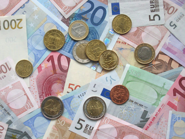 Euro banknotes and coins || public domain photo