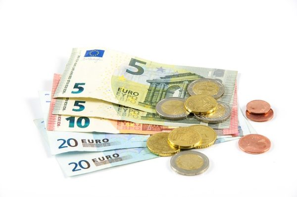 Euro notes and coins || public domain photo