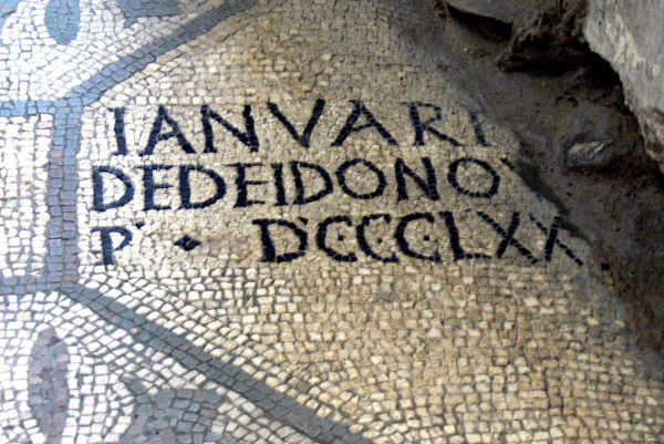 Latin mosaic in Aquileia || creative commons photo by Wolfgang Sauber