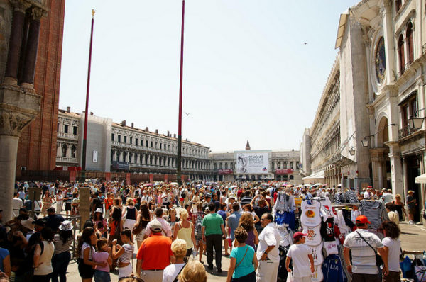 A crowded St. Mark's Square || creative commons photo by Mario Spann