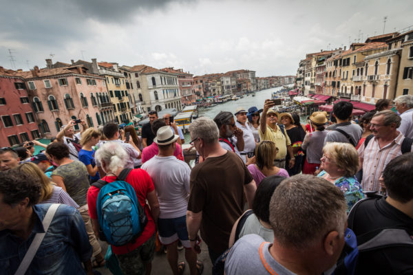 A crowded Venetian bridge || creative commons photo by Oleg Brovko