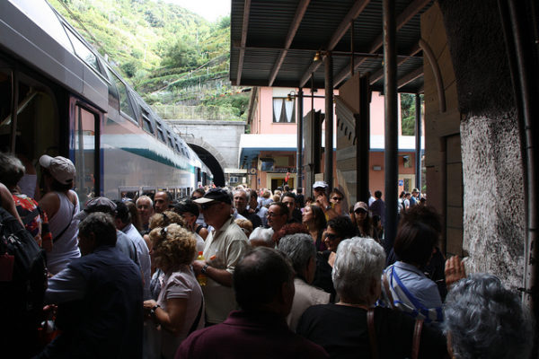 Vernazza train station || creative commons photo by Kylie & Rob (and Helen)