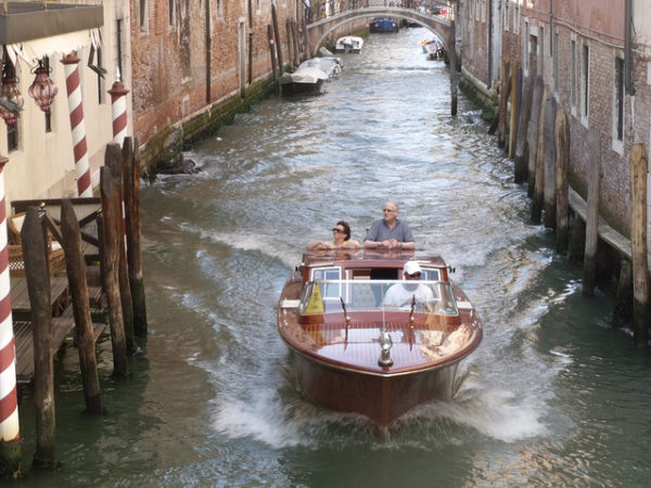 Venice water taxi || creative commons photo by Elliott Brown