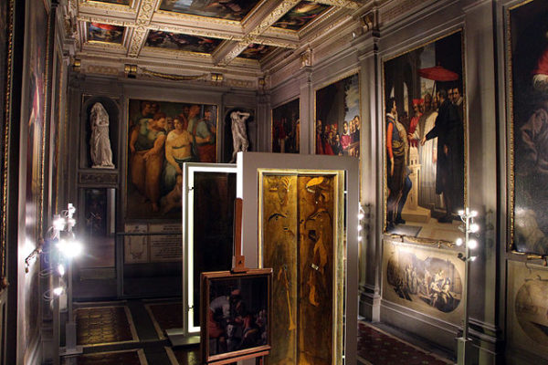 Gallery in the Casa Buonarroti || creative commons photo by Sailko